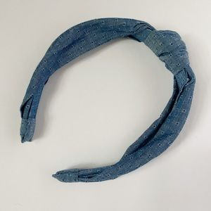 Denim Knotted Headband NWT